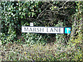 TM4797 : Marsh Lane sign by Adrian Cable