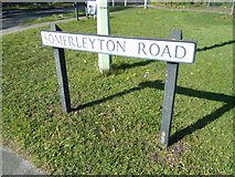 TM5294 : Somerleyton Road sign by Adrian Cable