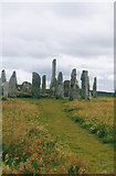 NB2133 : The central circle of stones by Malcolm Neal