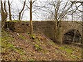 NH6845 : Pillbox by the old A96 bridge at Stonyfield by valenta