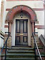 SK5639 : Front door, The Tower House, Park Row, Nottingham by Alan Murray-Rust