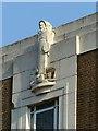 SK5639 : St Luke's House, Friar Lane, Nottingham – statue of St Luke by Alan Murray-Rust