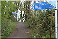 ST2999 : National Cycle Route signs, Griffithstown by M J Roscoe