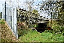 H4473 : Former access bridge across the Strule River by Kenneth  Allen