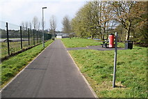 H4473 : Riverside walk and cycle path, Gortmore by Kenneth  Allen