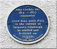 NO5603 : Blue plaque commemorating John Goodsir FRS by Richard Sutcliffe