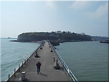 SY6878 : Weymouth: looking back along the South Pier by Chris Downer