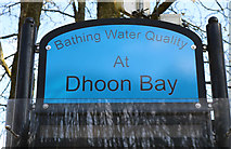 NX6548 : Sign at Dhoon Bay by Billy McCrorie