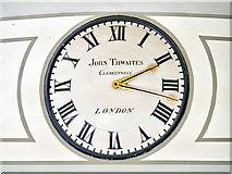 SJ8498 : John Thwaites Clock, Portico Library by David Dixon
