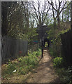 SP3477 : Footpath approaching a subway through a former railway embankment, Coventry by Robin Stott