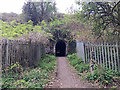 SP3477 : North portal of a subway beneath the Rugby-Birmingham railway line by Robin Stott
