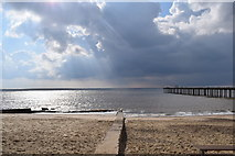 TM3034 : Felixstowe beach and the North Sea. by steven ruffles