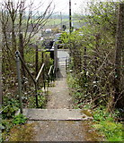 SO1110 : Steps down to Merthyr Road, Princetown by Jaggery