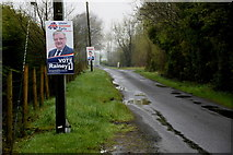 H4277 : Council election posters along Lisnagirr Road by Kenneth  Allen