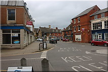 SK8608 : Roundabout on High Street, Oakham by David Howard