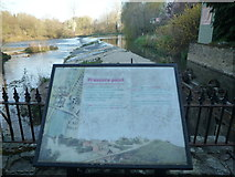 SO5074 : Sign at Mill on the Green (Ludlow) by Fabian Musto