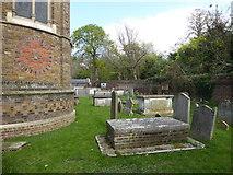 TQ1068 : St Mary, Sunbury-on-Thames: churchyard (b) by Basher Eyre