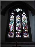 TQ1667 : St Nicholas, Thames Ditton: stained glass window (ii) by Basher Eyre