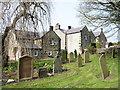 NZ1855 : Houses adjacent to graveyard at Tanfield by Trevor Littlewood
