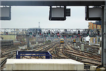 TQ3379 : Tracks east of London Bridge station by Robin Webster