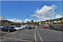 SY2289 : Beer: Town centre car park by Michael Garlick