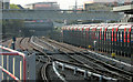 TQ3884 : DLR line at Stratford by Derek Harper