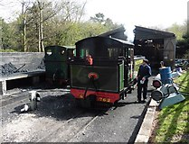 SS6846 : The engine shed at Woody Bay by Roger Cornfoot