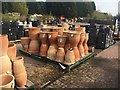 SO8296 : Flowerpots for sale by Graham Hogg