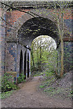 SP3677 : Accessible side arch, railway viaduct over the Sowe, Willenhall, southeast Coventry by Robin Stott