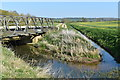 SK9242 : Bailey bridge over the River Witham, Barkston by Simon Mortimer