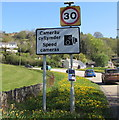 SO1521 : Start of the 30 zone at the southern edge of Bwlch, Powys by Jaggery