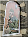 """TL8783 : Artworks in the """"windows"""" of Thetford Guildhall by Adrian S Pye"""