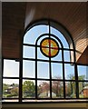 SJ9392 : Looking out of Woodley Methodist Church by Gerald England