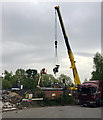SP2965 : Removing old substation equipment, Warwick by Robin Stott