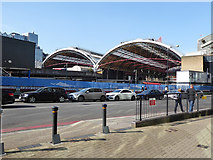 TQ2878 : Train shed, Victoria Station East Side by Robin Webster