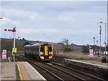 NO8686 : Aberdeen to Montrose train approaching Stonehaven by Bill Harrison