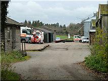 TQ2057 : Yard, Langley Bottom Farm by Robin Webster