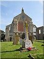 TF9839 : War  Memorial  and  Parish  Church.  Binham by Martin Dawes