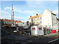 NT9952 : Premier Inn foundations construction, Sandgate, Berwick-upon-Tweed by Graham Robson
