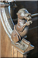 TM0062 : St Mary the Virgin, Wetherden - Bench end by John Salmon
