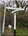 SJ8387 : Signpost at Crossacre by Gerald England