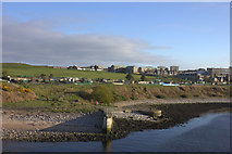 NJ9605 : Mouth of the River Dee, looking southwards by Robert Eva