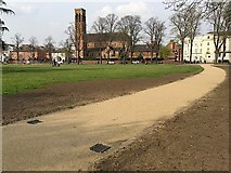 SP3165 : Path to Bedford Street and Dormer Place, Pump Room Gardens, Leamington by Robin Stott