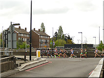 TQ4077 : London Marathon 2019: elite women by Stephen Craven