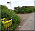 SO5417 : Yellow grit bin, Llangrove Road, Whitchurch, Herefordshire by Jaggery