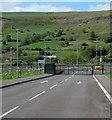 SO1205 : School entrance gates in Abertysswg by Jaggery