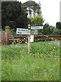 TM4878 : Signpost on  the B1126 Wangford Road by Adrian Cable