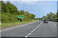 SJ3363 : A55 slip road at Broughton by John Firth