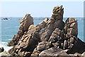 SV8707 : Rocks at Long Point by Andrew Abbott