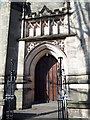 SP3166 : South door of Holy Trinity Church, Leamington Spa by Stephen Craven